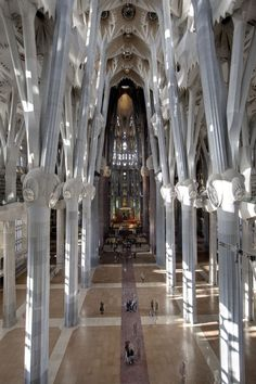 Orgue de la Sagrada Familia de Barcelona.  Like Royal icing pillars on a wedding cake.  Imagine getting married here.   R McN