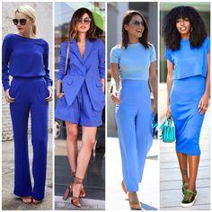 O azul é sóbrio, passa confiança e fica incrível também no escritório. Professional Dress For Women, Business Professional Outfits, Office Outfits, Chic Outfits, Fashion Outfits, Blue Fashion, Fashion Looks, Color Combinations For Clothes, Fashion Terms