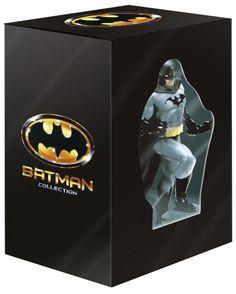 Batman, la quadrilogie en coffret dvd/blu-ray édition limitée avec figurine !