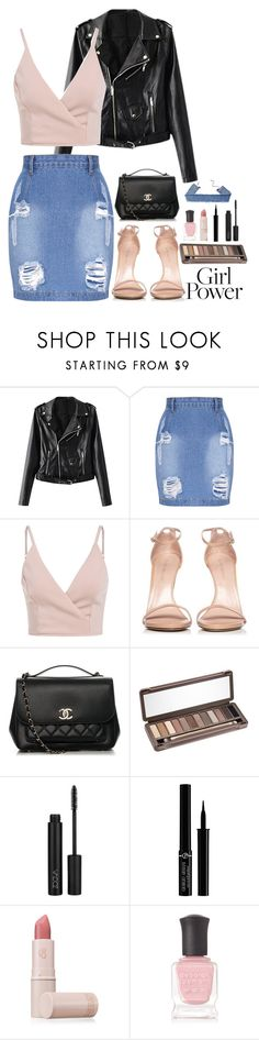 """""""Conquer the Day"""" by evidentlysarah ❤ liked on Polyvore featuring Stuart Weitzman, Chanel, Urban Decay, Giorgio Armani, Lipstick Queen, Deborah Lippmann and girlpower"""