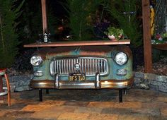 Upcycled Antique Car Bar
