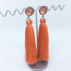 Coral tassel earrings - $20AUD - allure style