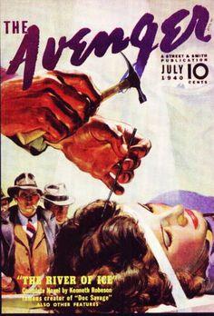 The Avenger, July. #vintage comics covers