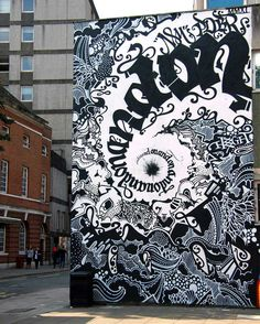Calligraffiti by Niels Shoe Meulman.......... I don't know what it says but I like the design.