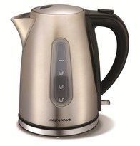 This Morphy Richards 43902 Accents Brushed Stainless Steel Jug Kettle with stylish Brushed Stainless Steel finish looks great in any home. Small Appliances, Kitchen Appliances, Cord Storage, Thing 1, Heating Element, Brushed Stainless Steel, Stuff To Buy, Kettles, Design
