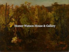 Homer Watson House & Gallery is the standing homestead and art studio of Canadian Artist Homer Ransford Watson. Beyond Paint, Online Travel, Canadian Artists, Homestead, Travel Guide, Studio, Gallery, House, Painting
