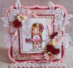 ScrapbookFashionista Designs by Rina: Marvelous Magnolia Wk 2 Pearls and Lace