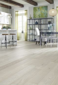 "Delaware Driftwood Oak | ""This season floors are 'lightening up' and we see a demand for lighter tones creating a more whitewashed clean and simple inspired style."" – Nancy Fire, HGTV Home Design Director"