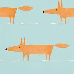 Scion Mr Fox Auburn Wallpaper main image