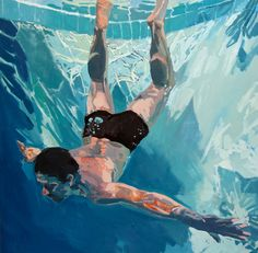 Deep dive, 36x36 Oil on canvas 2011: SOLD