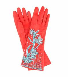 Designer Clothes, Shoes & Bags for Women Orange Gloves, Red Gloves, Leather Gloves, Ladies Gloves, Prada, Elegant Gloves, Paper Collage Art, Vintage Gloves, Closet Accessories