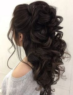 Prom Hairstyles For Long Hair Stunning 42 Half Up Half Down Wedding Hairstyles Ideas  Pinterest  Weddings