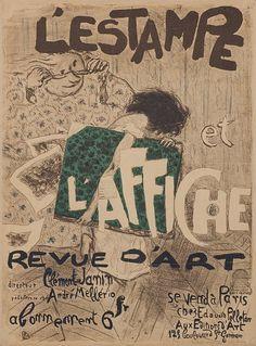 'La Revue de l'Art', Pierre Bonnard, 1897 / 'Petite histoire de l'affiche française', Les Arts Décoratifs, Paris