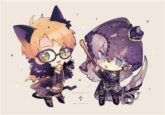 Chibi Characters, Girls Characters, Cute Anime Boy, Anime Guys, Chibi Couple, Beautiful Dark Art, Ensemble Stars, Manga Illustration, Cute Pokemon