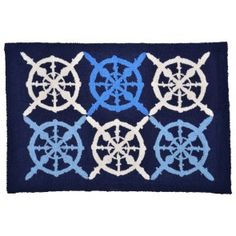 This rug would be an awesome gift for someone to add to their nautical decor....AND it's on Clearance!
