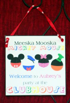MICKEY MOUSE Clubhouse Birthday InvitationPDF by MimisDollhouse, $11.99