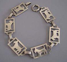 antique scottie bracelet