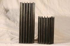 salvaged steel vase