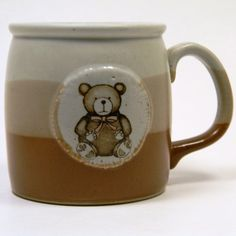 1980s Teddy Bear Mug, $11 ... Etsy!