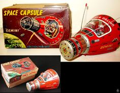 Space Capsules - SPACE CAPSULE GEMINI - HORIKAWA - JAPAN - ALPHADROME ROBOT AND SPACE TOY DATABASE
