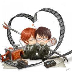 Black Butler ~~ Adorable fanart of Grell & William