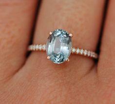 Mint sapphire engagement ring by #Eidelprecious #engagementring #sapphirering #bluegreen #mint