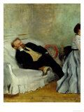 Posterazzi Monsieur and Madame Edouard Manet Canvas Art - Edgar Degas x Edouard Manet, Edgar Degas, Cool Posters, Prints For Sale, Custom Framing, Vivid Colors, Online Printing, Poster Prints, Canvas Art