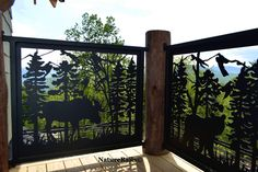 Custom wildlife railing panels for your deck or balcony. Powder coated steel or aluminum railing that never needs painting and is a breeze to install. See more images at www.NatureRails.com