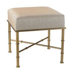 Gold And Cream Metallic Cane Bench Sterling Industries Benches Accent & Storage Benches Ac