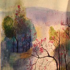 By belindas777: Colours #watercolour #painting #art #nature #landscape #landscape #contratahotel