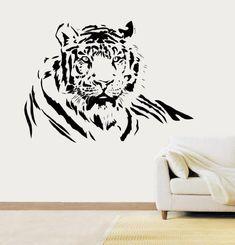 LightningSigns Tiger Vinyl Sticker Wall Art Bedroom, Kitchen Sticker WA16 - Black