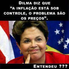Brasil-Dilma Rousseff-2015-Frase-Dilma diz que a inflação está sob controle...