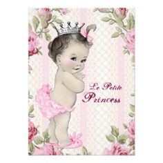 Vintage Princess Baby Shower | Vintage Princess Baby Shower Personalized Invitations