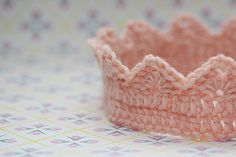 Crocheted crown for a baby. Supposed to take about an hour to make. I want to make an adult sized one!!!