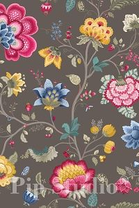 PiP Floral Fantasy Taupe wallpaper