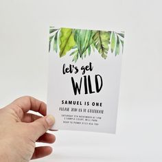 Go Wild! Create your own customised invitations to match any wild themed party. Use for dinosaurs, jungle, safari or monsters! Shop now at Emma Smith Event Stationery Jungle Birthday Cakes, Safari Theme Birthday, Jungle Theme Parties, Birthday Themes For Boys, Safari Birthday Party, 1st Boy Birthday, Jungle Cake, Dinosaur Party Invitations, Safari Invitations