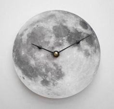 Silver Moon Clock by Cyber Moon - eclectic - clocks - by Etsy Eclectic Clocks, Unique Clocks, Moon Clock, Casa Retro, Moon Time, Full Moon, Home Accessories, Room Decor, Silver