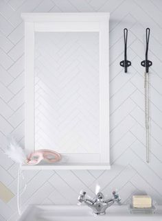 For show and hold, the SILVERAN mirror with shelf will add a nice touch to any bathroom.