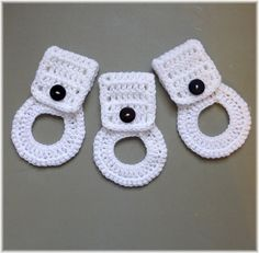 Towel Holder Set by DebbieCrochets on Etsy