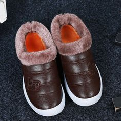 Sale 26% (20.99$) - Warm Faux Fur Lining Slip On Round Toe Casual Snow Ankle Boots