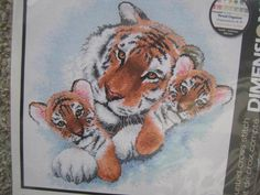SeeSallySew.com - Siberian Snuggle Cross Stitch Needlework Dimensions Kit 13695 , $20.00… Needlepoint Patterns, Cross Stitch Patterns, Costume Patterns, Cool Patterns, Snuggles, Your Favorite, Rooster, Needlework, Crochet