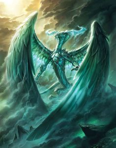 Ugin, the Spirit Dragon (Raymond Swanland). Magic: The Gathering, Fate Reforged.