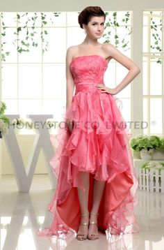 Aliexpress.com : Buy Hot Selling A line Strapless Floor Length Organza with Beading Hmecoming Dresses from Reliable floor length dress suppliers on HONEYSTORE CO., LIMITED $337.98