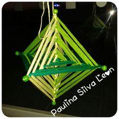 Mandala 3D, octaedro (en lana)