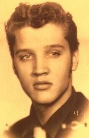 Elvis  in 1950 with light hair...   Google Image Result for http://www.elvis-postcards.com/images/ElvisBlond1950s.jpg