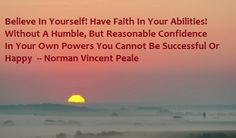 Generating business, financial and personal success comes from our own sense of self-confidence