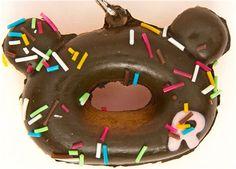 chocolate Rilakkuma donut squishy cellphone charm 1