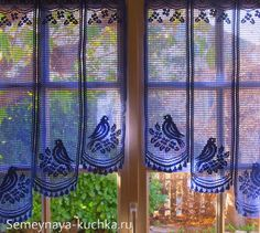 шторы филейные крючком Cafe Curtains, Bird Curtains, Crochet Curtains, Valance Curtains, White Lace Curtains, Lace Valances, Filet Crochet, Beautiful Crochet, Beautiful Birds
