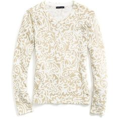 Tommy Hilfiger Pasiley Printed Cardigan ($55) ❤ liked on Polyvore featuring tops, cardigans, tommy hilfiger, cardigan top, tommy hilfiger cardigan, tommy hilfiger tops and white cardigan