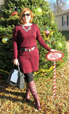 Bold Burgundy.. Over 40 Fashion Blogger